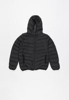Brave Soul - Boys padded hooded jacket - black