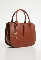 Fossil - Ryder satchel - brown