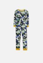 Cotton On - Jack boys long sleeve waffle camo pyjama set - multi