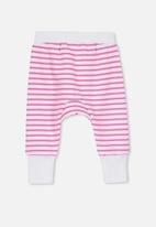 Cotton On - Charlie trackpant - white & pink