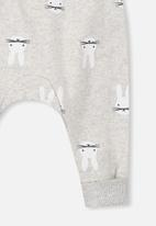 Cotton On - Charlie bunny trackpant - grey & white