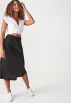 Cotton On - Woven belle bias skirt - black