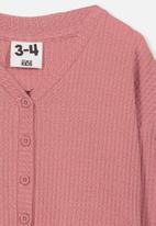 Cotton On - Bexley button through top - pink