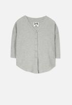 Cotton On - Bexley button through top - grey