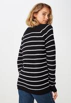 Cotton On - Archy 5 pullover - black & white