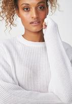Cotton On - Archy cropped 2 pullover - white