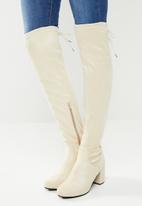 Footwork - Sandi over the knee boot - beige