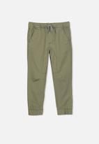 Cotton On - Logan cuffed pant - khaki