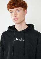 Jack & Jones - Newgalion sweat hoodie - black