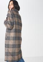 Cotton On - New mid length coat - brown