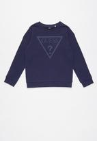 GUESS - Long sleeve active top - blue
