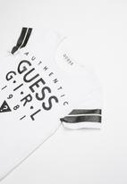 GUESS - Short sleeve guess girl tee - white