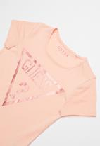 GUESS - Teens short sleeve holo tri tee - peach