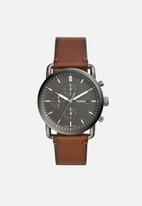 Fossil - The commuter chrono - brown