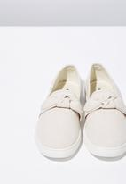 Cotton On - Canvas bow slip on - neutral