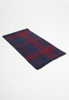 Superbalist - Check scarf - navy & red