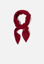 Cotton On - Soho broadway pleat scarf - red