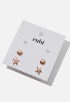 Cotton On - Sinead stud pack - rose gold