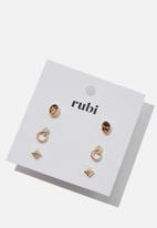 Cotton On - Zoe stud pack - gold