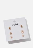 Cotton On - Zoe stud pack - rose gold