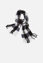 Cotton On - Louisa tassel scarf - black & white