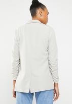 STYLE REPUBLIC - Ruched sleeve blazer - grey