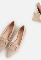 MANGO - Buckle flat loafer - taupe