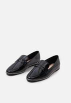MANGO - Patent loafer - black