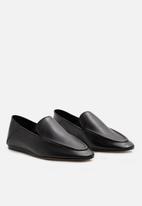 MANGO - Leather mocassin - black