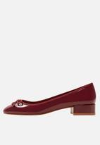 MANGO - Patent heeled ballerina - burgundy
