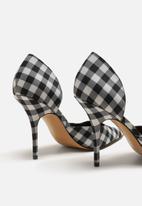 MANGO - Gingham check heel - black & white