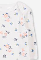 Cotton On - Mini long sleeve bubby - white