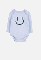Cotton On - Mini long sleeve bubby - blue