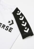 Converse - Short sleeve track tee - white