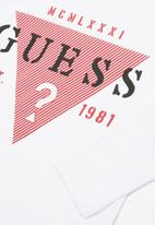 GUESS - Long sleeve guess? tee - white