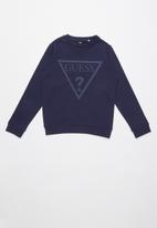 GUESS - Long sleeve active top  - navy