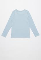 GUESS - Long sleeve tri originals tee  - blue