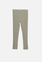 Cotton On - Huggie chunky rib tights - khaki