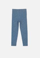 Cotton On - Huggie irregular spot tights - blue & white