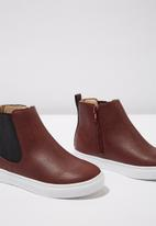 Cotton On - Darcy gusset boot - burgundy