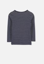 Cotton On - Jessie stripe crew - navy & white