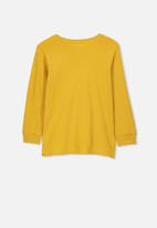 Cotton On - Tom long sleeve sugar made me do it tee - yellow