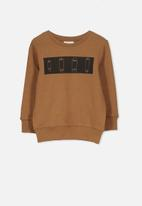 Cotton On - Lachy crew jumper - brown