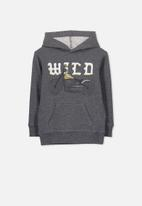 Cotton On - Liam wild hoodie - charcoal