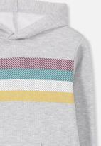 Cotton On - Liam striped hoodie - grey