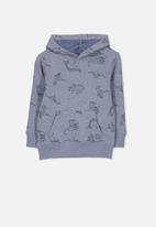 Cotton On - Liam dinosaurs hoodie - blue