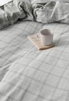 Linen House - Flannelette graham duvet cover set - grey