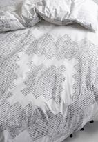 Linen House - Mexica duvet cover set - grey