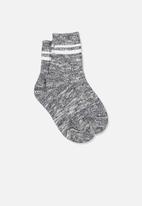 Cotton On - Chunky knit crew - grey & white