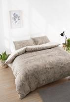 Linen House - Mona duvet cover set - taupe
